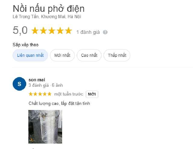 Tham khảo feedback, phản hồi của khách hàng đã từng mua sản phẩm trên gg.map