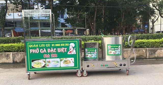Quầy bán bún phở đẹp sản xuất tại Quang Huy
