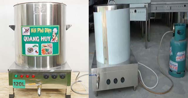 Sự khác nhau giữa nồi nấu phở bằng gas và điện