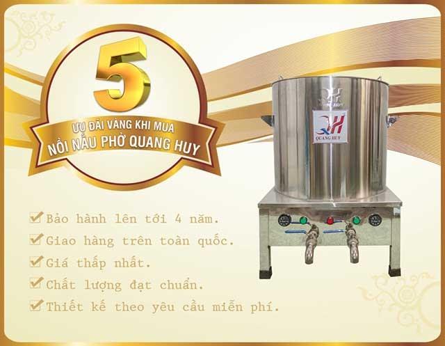 Ưu đãi khi mua nồi nấu phở Quang Huy