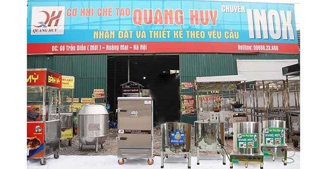 Xưởng sản xuất Quang Huy, mua nồi tráng bánh cuốn ở đâu