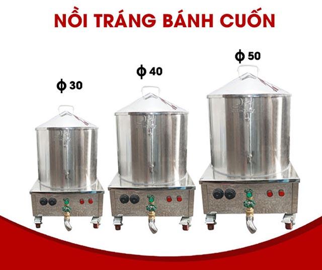 Nồi điện hấp bánh cuốn Quang Huy, Nồi tráng bánh cuốn đa dạng dung tích