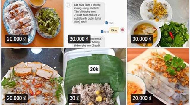 Bán bánh cuốn nóng online tiết kiệm chi phí, bán bánh cuốn online