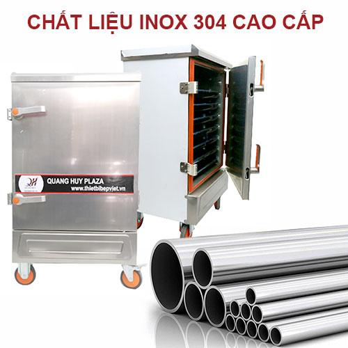 Tủ nấu cơm Quang Huy chất liệu 100% inox 304
