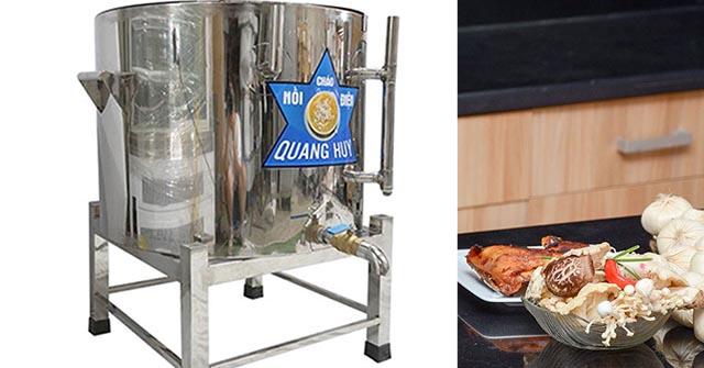 Cho nguyên liệu vào nồi, cách sử dụng nồi nấu cháo điện