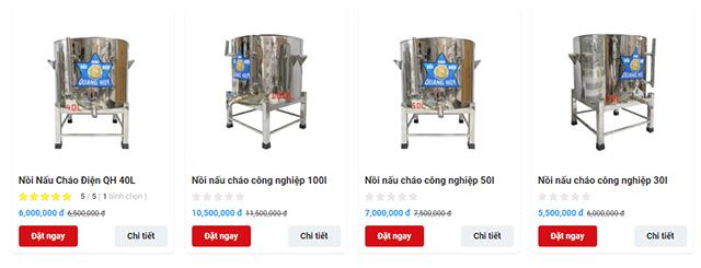 Giá bán minh bạch công khai, mua nồi nấu cháo bằng điện ở đâu