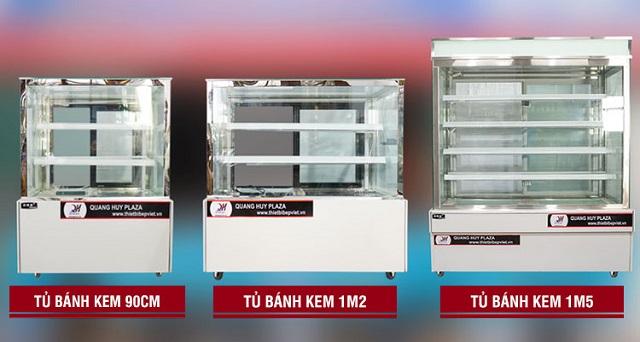 Giá bán tủ bánh kem phụ thuộc nhiều yếu tố như mẫu mã, kích thước