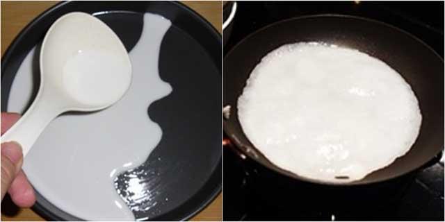 Tráng bánh cuốn bằng chảo, cách làm bánh cuốn bằng chảo