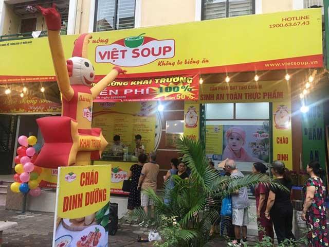 Trang trí quán bắt mắt thu hút khách hàng, quảng cáo quán cháo dinh dưỡng