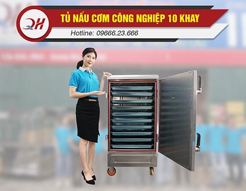 Tủ nấu cơm 10 khay năng suất 30-50kg/mẻ