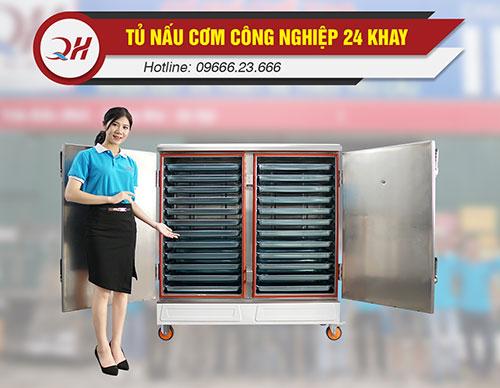 Tủ nấu cơm 24 khay năng suất 72-120kg/mẻ