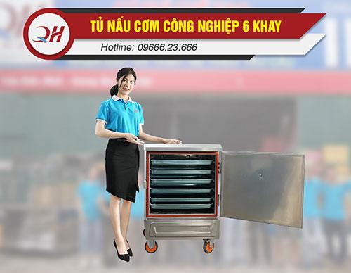 Tủ nấu cơm 6 khay năng suất 18-30kg/mẻ