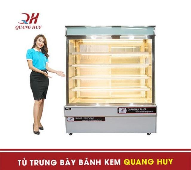 Tủ bánh kem Quang Huy chất lượng tốt, chuẩn chính hãng