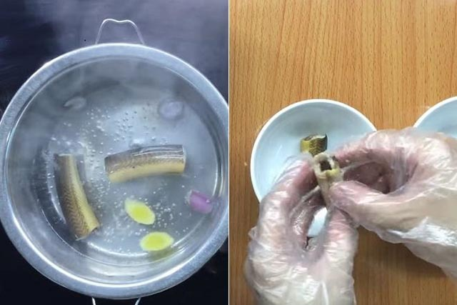 Luộc lươn, Luộc lươn lấy nước