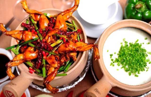 Món cháo ếch Singapore nổi tiếng, cháo ếch singapore