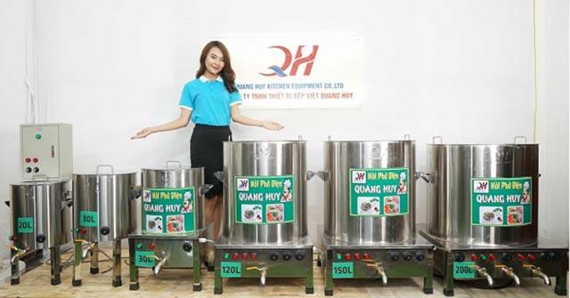 Lựa chọn nồi điện nấu phở phù hợp, kích thước nồi điện nấu phở