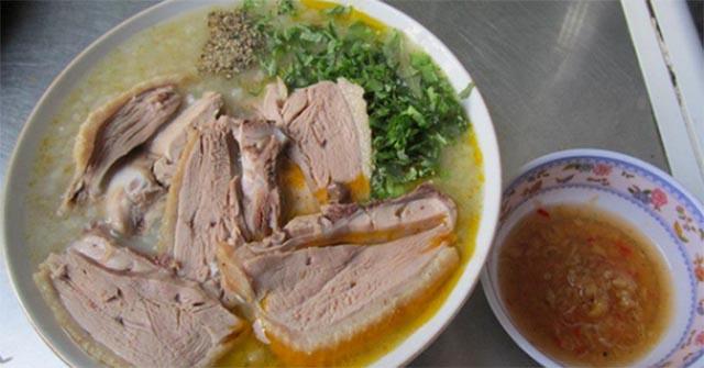 Thành phẩm món cháo vịt Vân Đình, cách nấu cháo vịt Vân đình